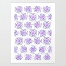 Symmetrical Shapes - Confetti Burst Art Print