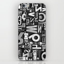Metal Madness - Typography Photography™ iPhone Skin