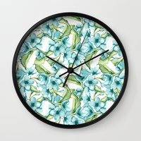 blossom Wall Clocks featuring Blossom by Julia Badeeva