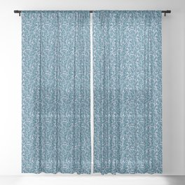 Movin' and Shakin' Teal/Pink Sheer Curtain