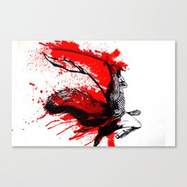 Samurai Squirrel Canvas Print