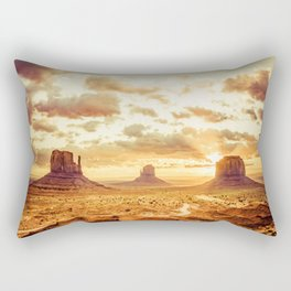 Monument Valley Sunrise Rectangular Pillow