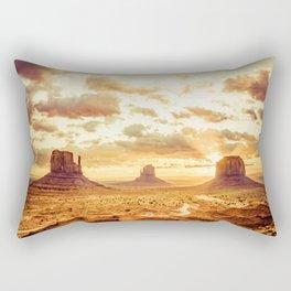 Monument Valley Sunrise Rectangular Pillow