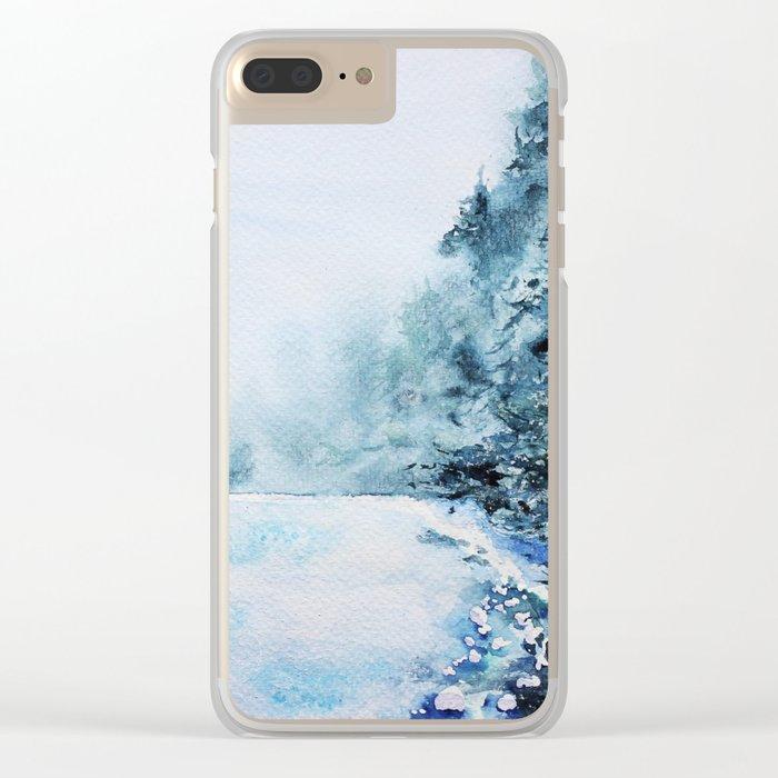 Winter fun Clear iPhone Case
