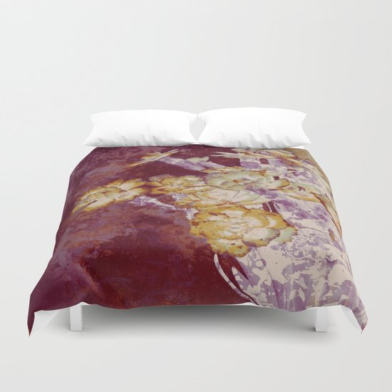 abstract bouquet and vase Duvet Cover