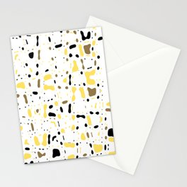 Coffee spots, simple abstract illustration in delicate colors,texture design, pattern Stationery Cards