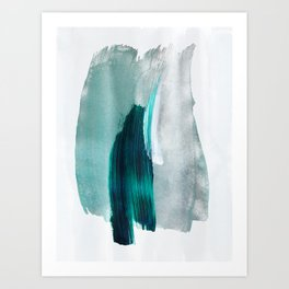 Abstract Brush Strokes 19 Art Print