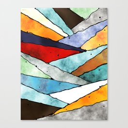 Angles of Textured Colors Canvas Print