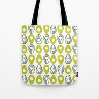 avocado Tote Bags featuring Avocado by curious creatures