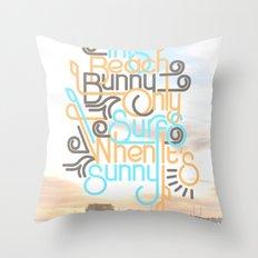 BEACH BUNNY Throw Pillow