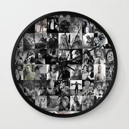 B Movie Monsters Wall Clock