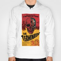 terminator Hoodies featuring The Terminator by Vaughany