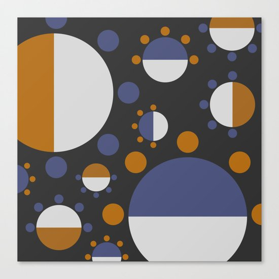 MORE AND MORE CIRCLES  (abstract pattern Canvas Print