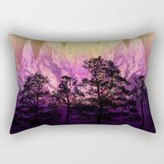 TREES under MAGIC MOUNTAINS III Rectangular Pillow