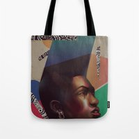 grace Tote Bags featuring Grace by Galvanise The Dog