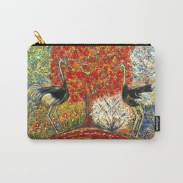 Ostriches by the Red Tree Carry-All Pouch