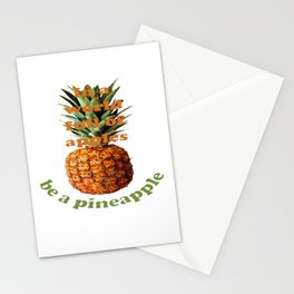 In A World Full Of Apples, Be A Pineapple Stationery Cards