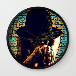 Cool hat Wall Clock