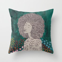 In the garden of my dreams Throw Pillow