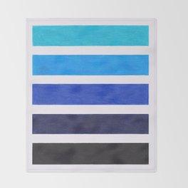 Colorful Blue Stripe Pattern Throw Blanket