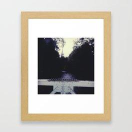bridge over river Framed Art Print