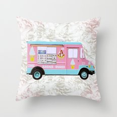 Time For Ice Cream Throw Pillow