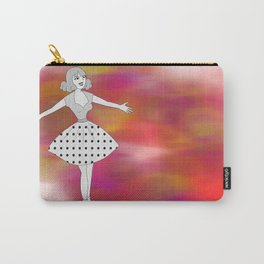 Retro welcoming cartoon girl Carry-All Pouch