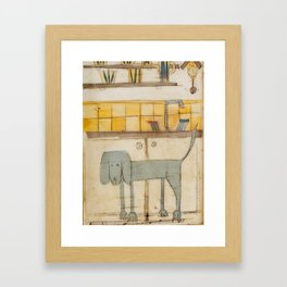 sproshi wants to be the dish washer :) Framed Art Print