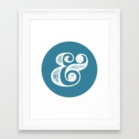 ampersand Framed Art Prints featuring Ampersand by AndyGD