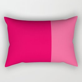 Color Block Pink Rectangular Pillow