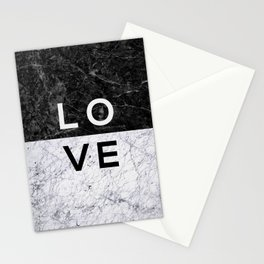 Love B&W Stationery Cards