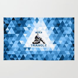 Blue Bjj Triangle choke. Jiu-jitsu grappling Rug