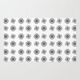 Fibonacci Flowers Pattern Rug
