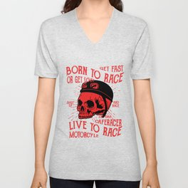 Born to race Unisex V-Neck