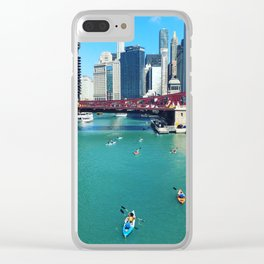 Chicago River Kayaks Clear iPhone Case