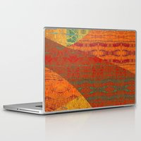banana leaf Laptop & iPad Skins featuring Rakhi Banana Leaf with Red by Pistachia