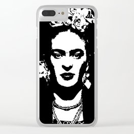 Black 'n white Frida Clear iPhone Case