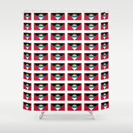 flag of Antigua and barbuda -antiguan,barbudan,caribean,antilles,Saint John,madeiran Shower Curtain