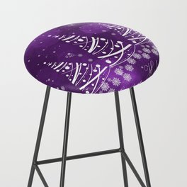 Happy Holidays Purple Magic Bar Stool