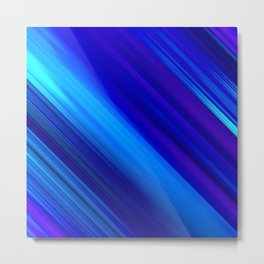 Abstract watercolor colorful lines painting Metal Print