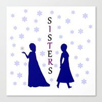 sisters Canvas Prints featuring Sisters by BlackBlizzard