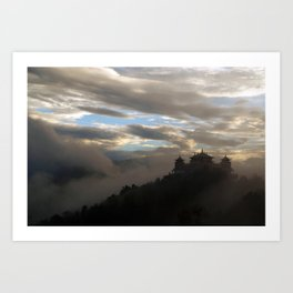 Temple at Dawn Art Print