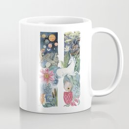 fairy tale alphabet. Letter H with unicorn Coffee Mug