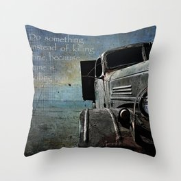 The Rust Throw Pillow