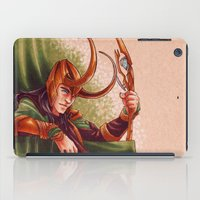 loki iPad Cases featuring Loki by silvertales