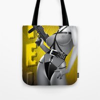 sin city Tote Bags featuring Sin City-Gail by Szoki