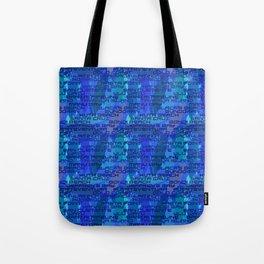 Surf Spots Splash in Wave Blue Tote Bag