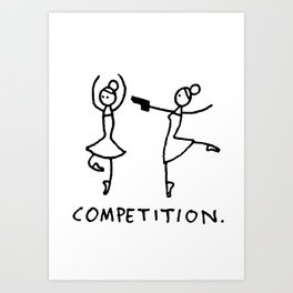 Competition Art Print