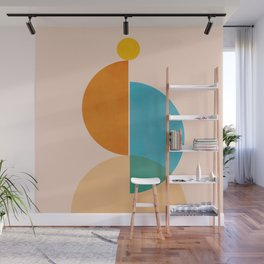 Abstraction_SUN_Rising_Minimalism_001 Wall Mural
