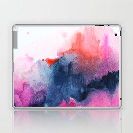 Abstract watercolor Orange Pink Laptop & iPad Skin